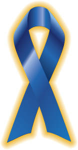 This is a photo of the child abuse blue ribbon