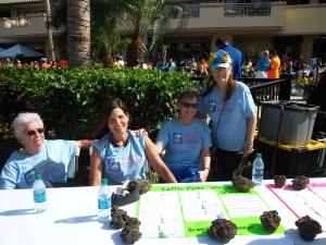 charity walk priz table