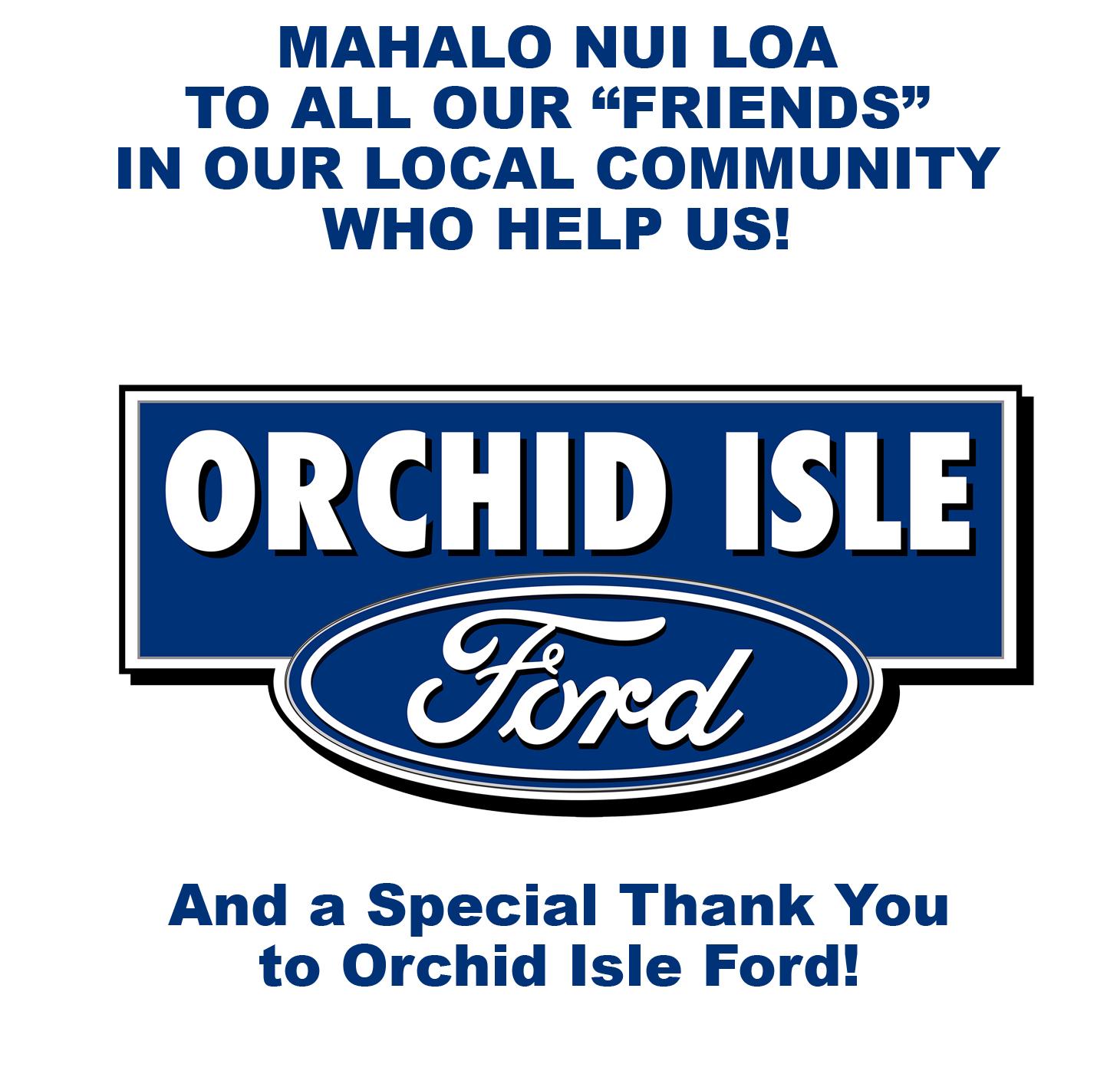 Mahalo OI Ford