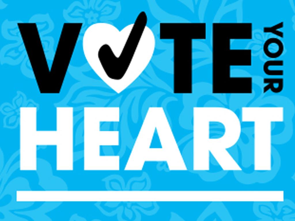 Vote heart